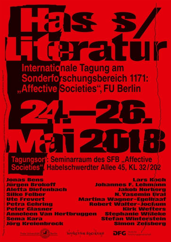 Tagungsplakat Hass/Literatur (c) Marcel Strauß